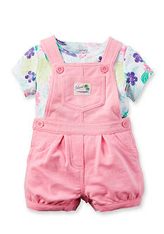 Carter's 2-Piece Tropical Flower Overall Set