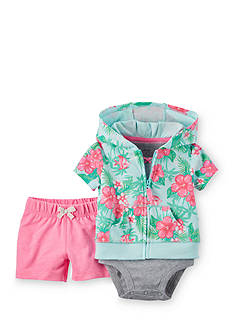 Carter's 3-Piece Floral Cardigan and Shorts Set