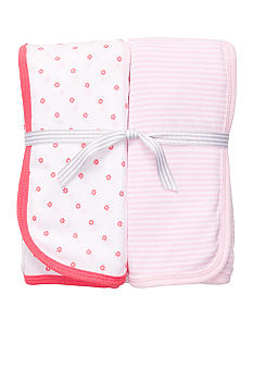 Carter's 2-Pack Pink and Poppy Swaddle Blankets