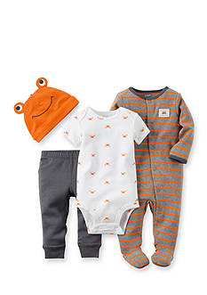Carter's 4-Piece Crab Stripe Sleep and Play Set