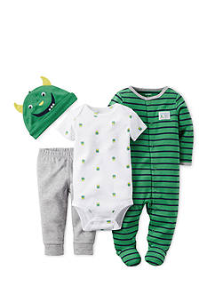 Carter's 4-Piece Monster Stripe Sleep and Play Set