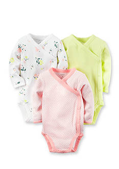 Carter's 3-Pack Side Snap Floral Bodysuits