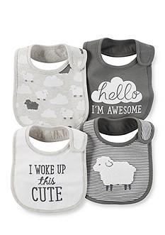 Carter's 4-Pack Sheep Bibs