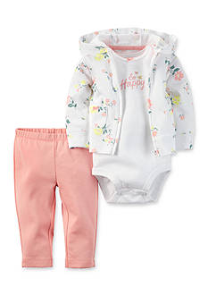 Carter's 3-Piece Floral Cardigan and Pants Set