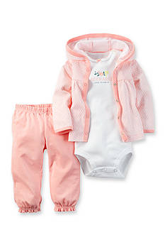 Carter's 3-Piece Geo Cardigan & Bodysuit Set