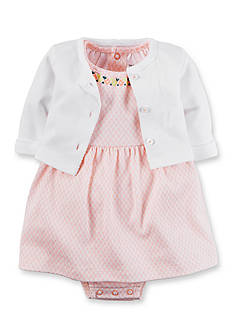 Carter's 2-Piece Cardigan and Geo Dress Set