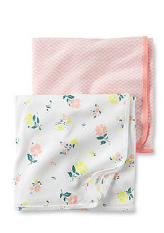 Carter's 2-Pack Floral Swaddle Blankets