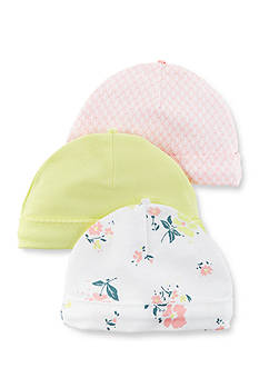 Carter's 3-Pack Floral Caps
