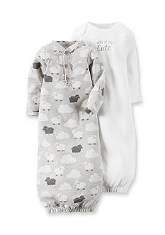 Carter's 2-Pack 'I Woke Up This Cute' Lamb Gown Set