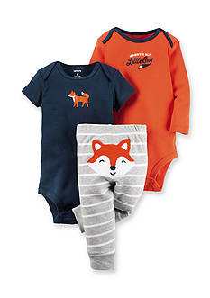 Carter's 3-Piece 'Mommy's Sly Little Guy' Bodysuit & Pants Fox Set