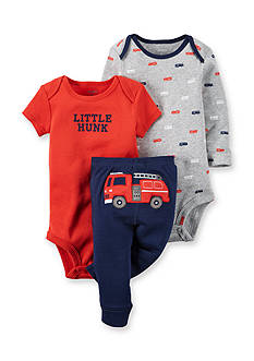 Carter's 3-Piece Fire Truck Bodysuit & Pants Set