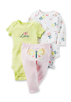 Carter's 3-Piece Butterfly Bodysuit & Pants Set