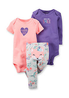 Carter's 3-Piece Bodysuit and Pants Fox Set