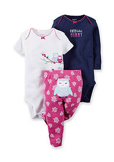 Carter's 3-Piece 'Cute Like Mommy' Bodysuit & Pants Owl Set