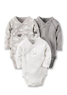 Carter's 3-Pack Long-Sleeve Bodysuits