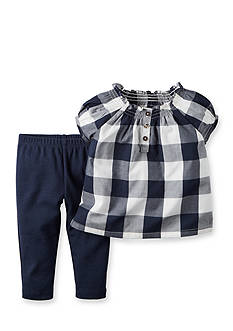 Carter's 2-Piece Check Top and Pant Set