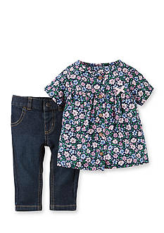 Carter's 2-Piece Floral Print Shirt and Pant Set