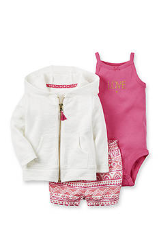 Carter's 3-Piece Cardigan and Short Set