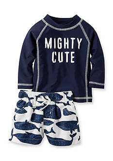 Carter's 2-Piece 'Mighty Cutie' Swim Set