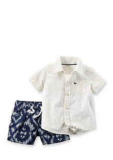 Carter's 2-Piece Shirt & Printed Short Set