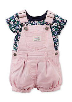 Carter's 2-Piece Floral Shirt and Overall Set