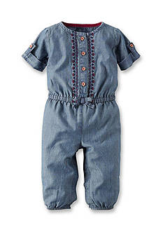 Carter's Denim Bow Jumpsuit