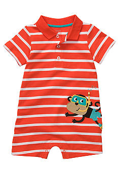 Carter's Stripe Monkey Applique' Romper