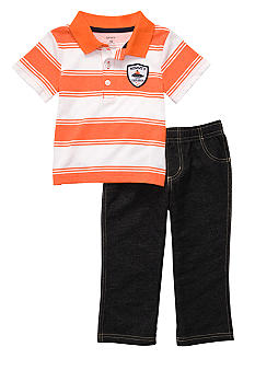 Carter's Stripe Polo Pant Set