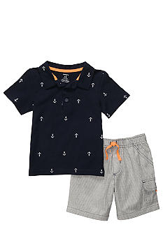 Carter's 2-Piece Navy Anchor Short Set