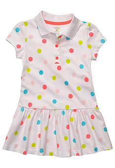 Carter's Dot Polo Dress Diaper Cover Set