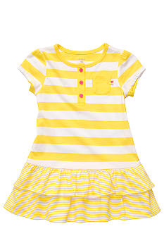 Striped Yellow Ruffle Dress