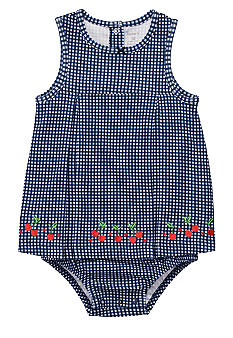 Carter's Embroidered Cherry Sunsuit