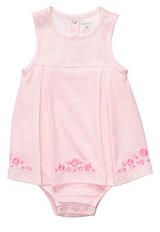 Carter's Embroidered Floral Sunsuit