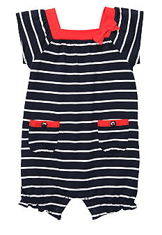 Carter's Navy Striped Romper