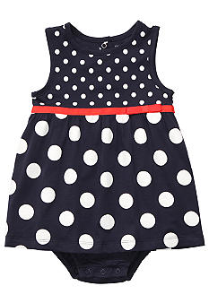 Carter's Navy Polka Dot Sunsuit
