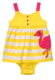 Carter's Flamingo Stripe Sunsuit