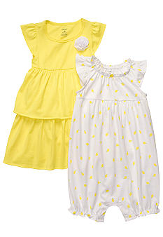 Carter's Lemon Pattern Romper & Dress 2-pack Set