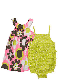 Carter's Floral Print Sunsuit and Dress Set