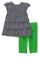 Carter's® 2-Piece Green Dot Capri Set