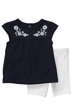 Carter's 2-Piece Navy Flower Short Set
