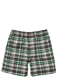 Carter's Woven Green Plaid Shorts