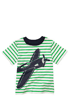 Carter's Airplane Screenprint Stripe Tee