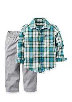 Carter's 2-Piece Button-Front Shirt and Canvas Pant Set