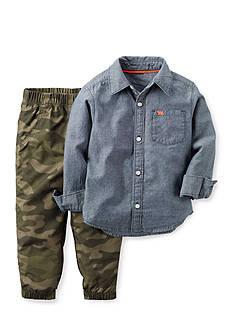 Carter's 2-Piece Chambray Shirt and Jogger Set