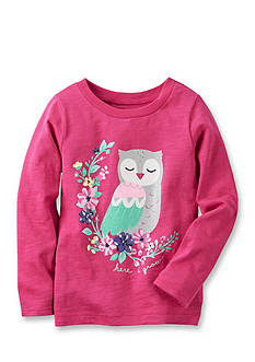Carter's Long-Sleeve Owl Graphic Tee