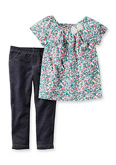 Carter's 2-Piece Flower Shirt and Pant Set