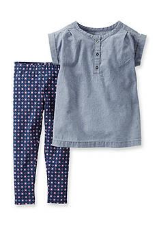 Carter's 2-Piece Chambray Tunic Shirt and Geo Pants Set