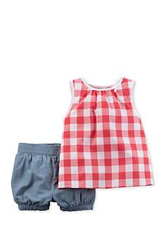 Carter's 2-Piece Plaid Shorts Set