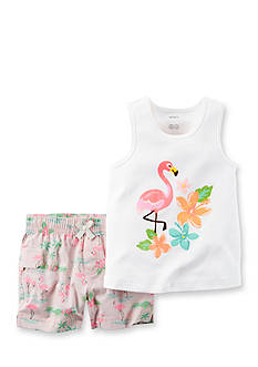 Carter's 2-Piece Flamingo Tank & Short Set