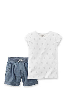 Carter's 2-Piece Print Shirt and Short Set